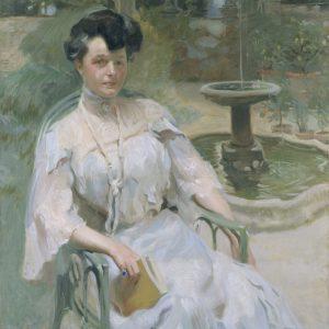 Portrait of Hortense L. Mitchell Acton in the Pomario