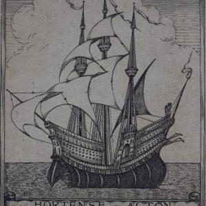 Bookplate of Hortense Mitchell Acton