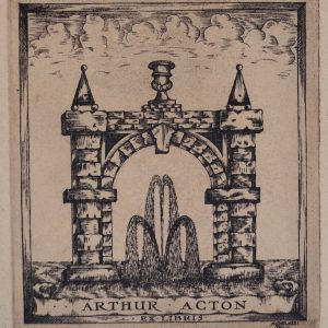 Bookplate of Arthur Acton.